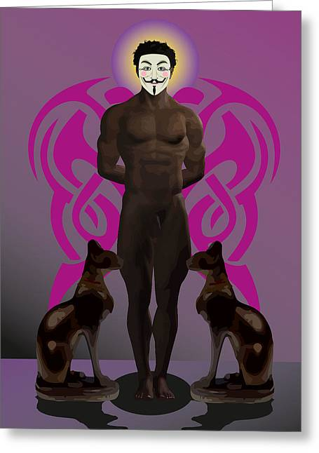 Tasteful Art Digital Art Greeting Cards - Saint anonymous Greeting Card by Joaquin Abella