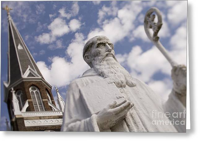 Charlotte Nc Photography Greeting Cards - Saint Benedict at Belmont Abbey College Greeting Card by Patrick Schneider