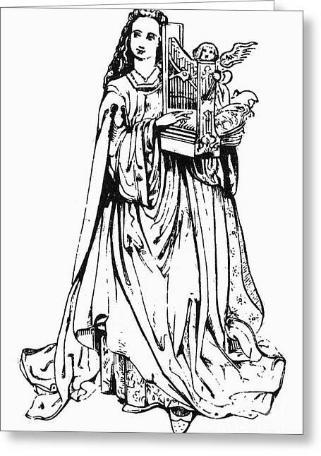Cecilia Greeting Cards - Saint Cecilia Greeting Card by Granger