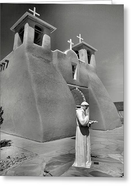 Taos Greeting Cards - Saint Francis and San Francisco de Asis Church I Greeting Card by Steven Ainsworth