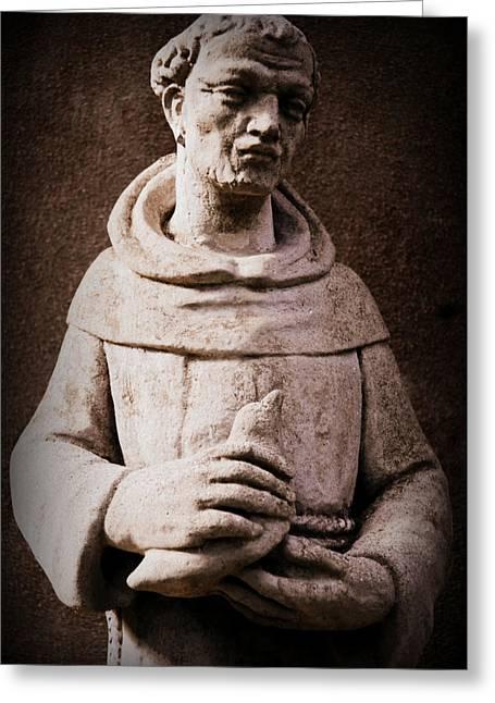 Saint Francis Greeting Cards - Saint Francis of Assisi  Greeting Card by Melissa Wyatt