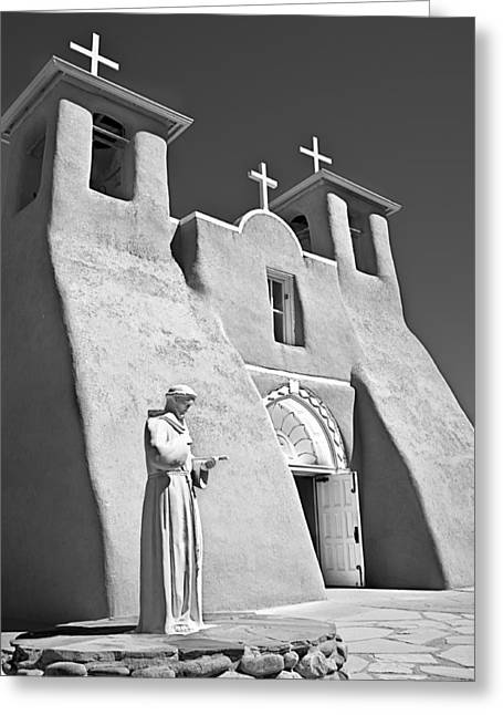 Mancave Photos Greeting Cards - Saint Francisco de Asis Mission Greeting Card by Melany Sarafis