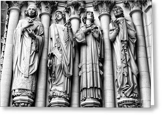 Saint John the Divine Greeting Card by Anne Raczkowski