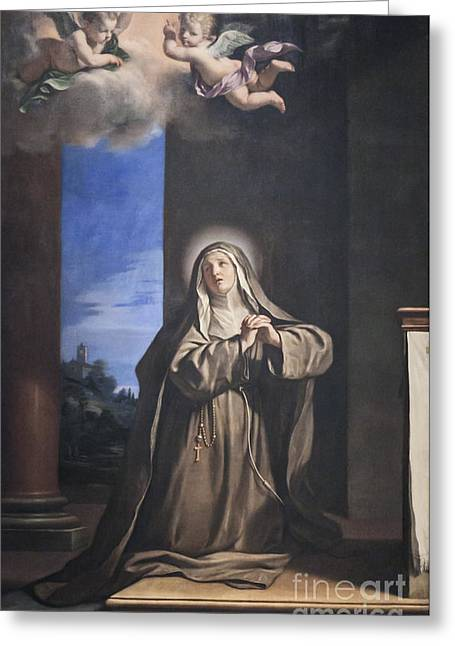 Giovanni Francesco Barbieri Greeting Cards - Saint Mary Magdalene penitent by il Guercino Greeting Card by Roberto Morgenthaler