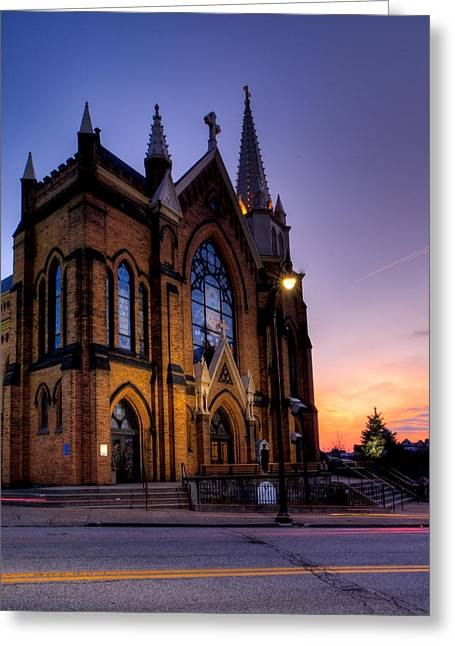Grandview Greeting Cards - Saint Mary of the Mount Greeting Card by David Hahn