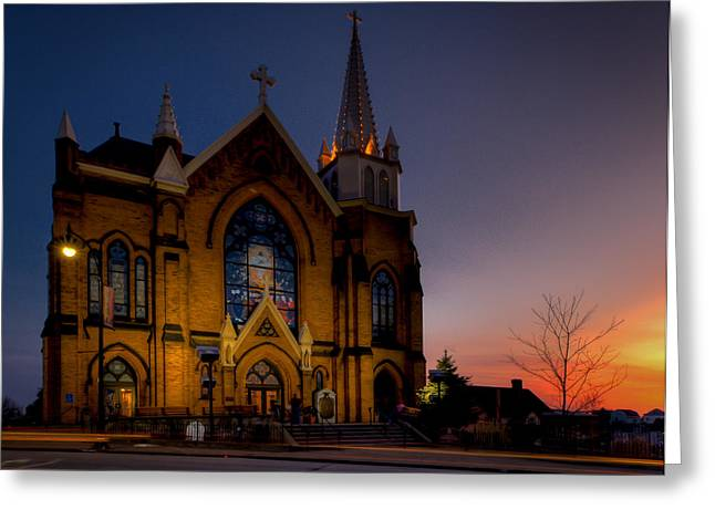 Grandview Greeting Cards - Saint Mary of the Mount II Greeting Card by David Hahn