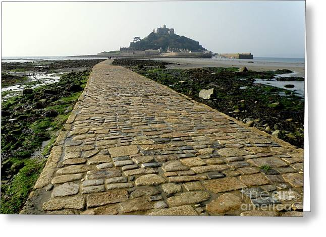 Lainie Wrightson Greeting Cards - Saint Michaels Mount Greeting Card by Lainie Wrightson