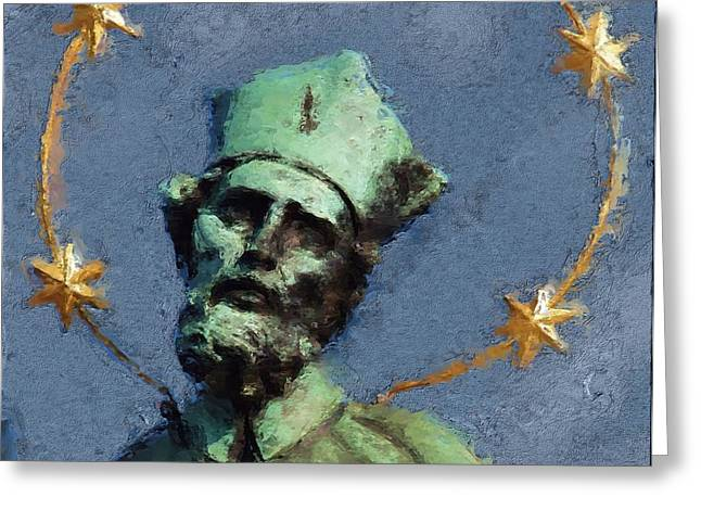 Saint Nepomuk Greeting Card by Shawn Wallwork
