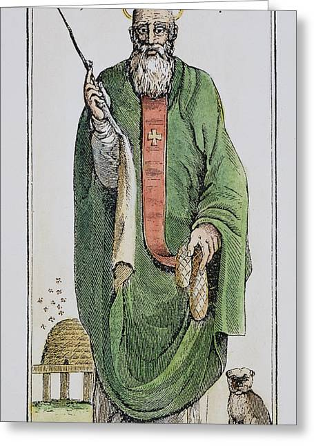4th Greeting Cards - SAINT NICHOLAS (4th CENTURY) Greeting Card by Granger
