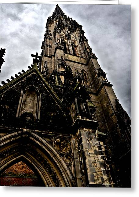 Deutschland Greeting Cards - Saint Nikolai Church 4 Greeting Card by Edward Myers