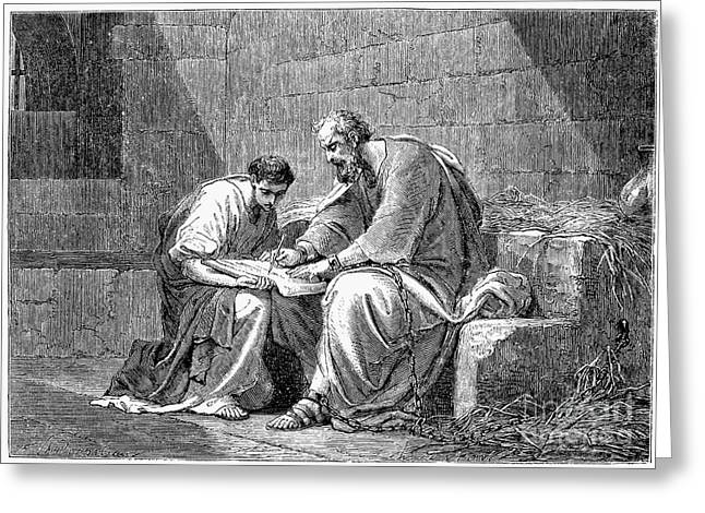 Early Christianity Greeting Cards - Saint Paul In Prison Greeting Card by Granger