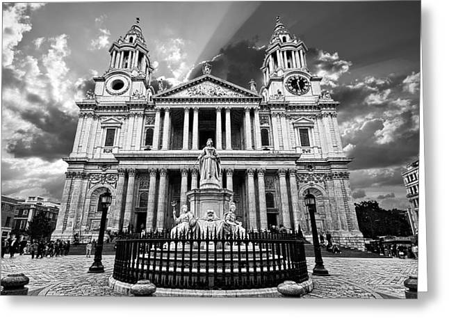 Cathedral Greeting Cards - Saint Pauls Cathedral Greeting Card by Meirion Matthias