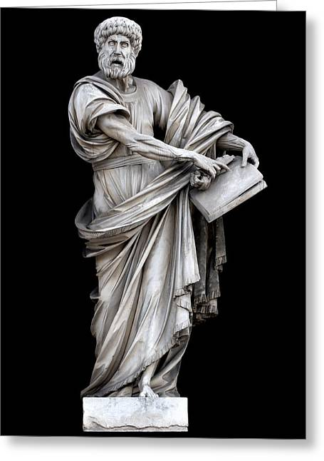 Cut-outs Greeting Cards - Saint Peter Greeting Card by Fabrizio Troiani