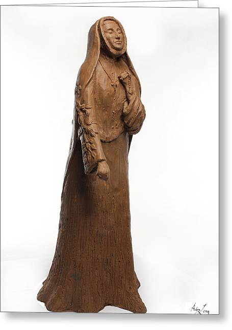 Women Sculptures Greeting Cards - Saint Rose Philippine Duchesne Greeting Card by Adam Long