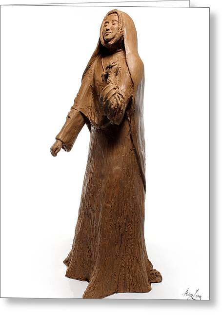 Rosary Sculptures Greeting Cards - Saint Rose Philippine Duchesne sculpture Greeting Card by Adam Long