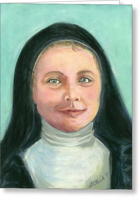 Saint Therese Of Lisieux Greeting Card by Susan  Clark