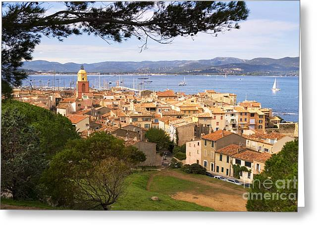 Grimaud Greeting Cards - Saint Tropez 1 Greeting Card by John James