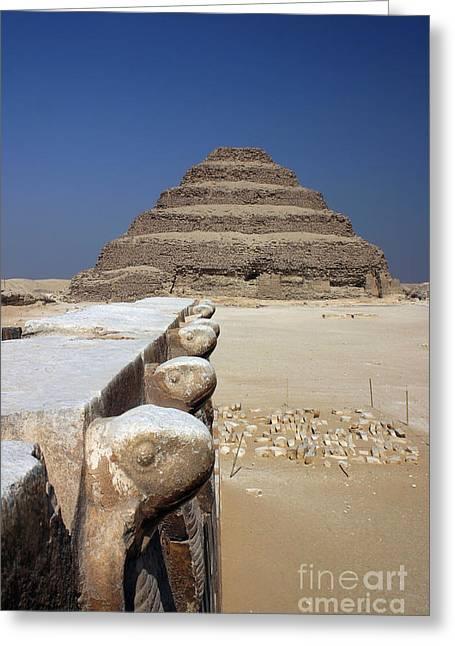 Pharaoh Greeting Cards - Sakkara Pyramid Greeting Card by Darcy Michaelchuk