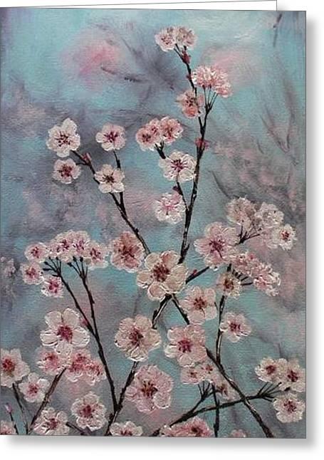 Sakura Greeting Card by Yulia Litvinova