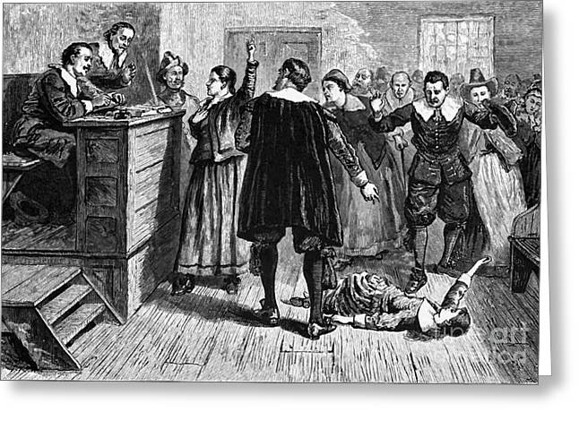Salem Witch Trials, 1692-93 Greeting Card by Photo Researchers