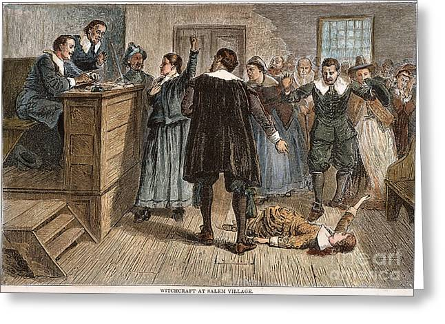 Discrimination Greeting Cards - Salem Witch Trials, 1692 Greeting Card by Granger