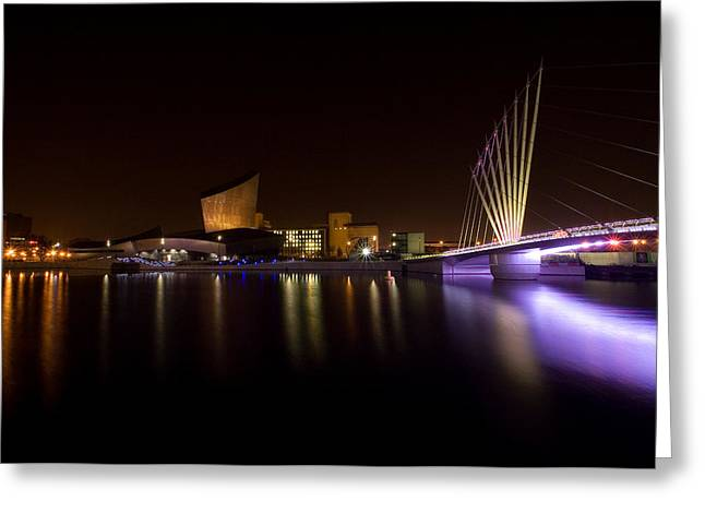Media Exposure Greeting Cards - Salford Quays Greeting Card by Wayne Molyneux