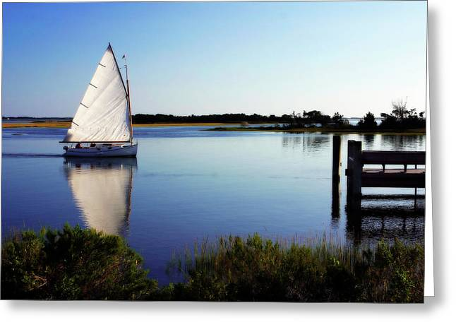 Recently Sold -  - Sailboat Art Greeting Cards - Saling on Glass Greeting Card by Alan Hausenflock