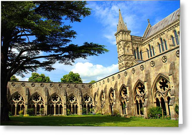 Dslr Greeting Cards - Salisbury Cathedral Greeting Card by Kamil Swiatek