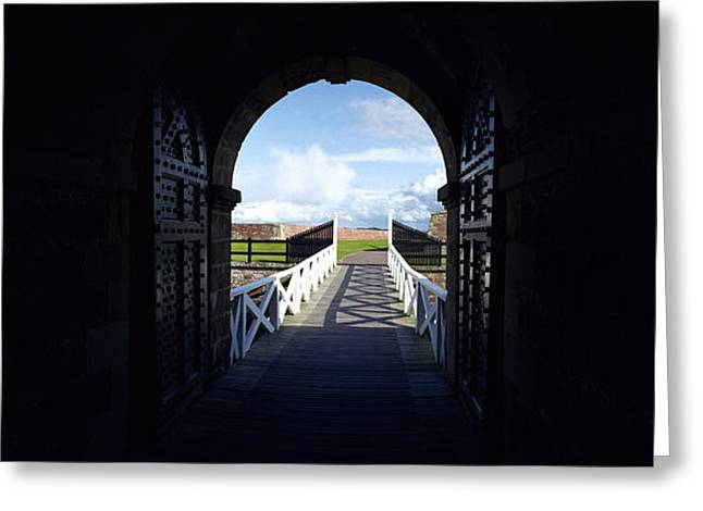 Fort George Greeting Cards - Sally Port Greeting Card by Jan Faul