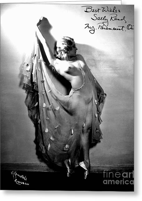 Burlesque Paintings Greeting Cards - Sally Rand (1904-1979) Greeting Card by Granger