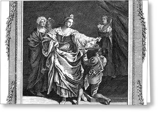 SALOME & JOHN THE BAPTIST Greeting Card by Granger