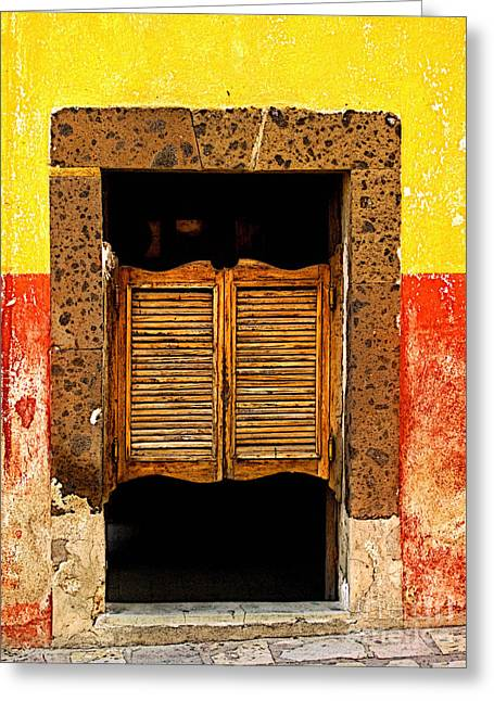 San Miguel De Allende Greeting Cards - Saloon Door 1 Greeting Card by Olden Mexico