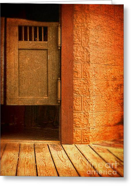 Saloons Greeting Cards - Saloon Doors Greeting Card by Jill Battaglia