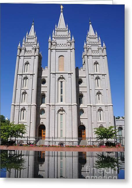 Salt Lake Mormon Temple Greeting Card by Gary Whitton