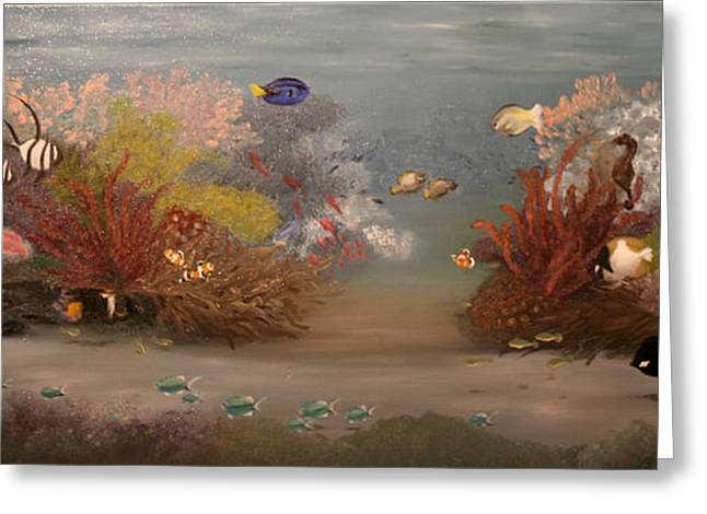 Aquarium Fish Greeting Cards - Saltwater Symphony Greeting Card by RMDee Riggs