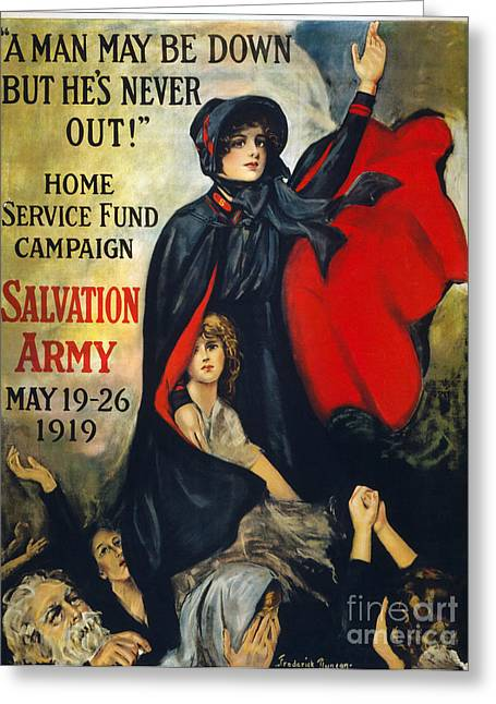 """salvation Army"" Greeting Cards - Salvation Army Poster, 1919 Greeting Card by Granger"