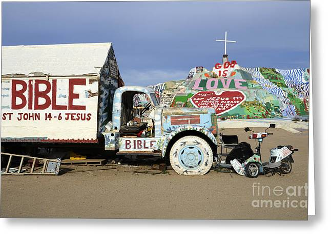 Salvation Mountain Greeting Cards - Salvation Mountain California 1 Greeting Card by Bob Christopher