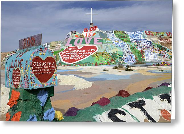 Salvation Mountain Greeting Cards - Salvation Mountain California 2 Greeting Card by Bob Christopher