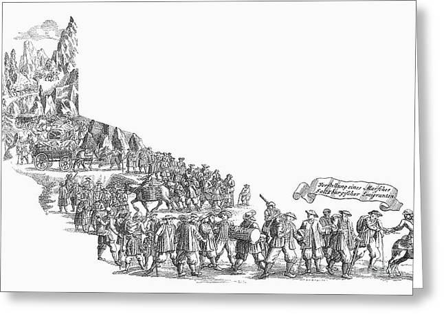 1732 Greeting Cards - Salzburg Emigrants, 1732 Greeting Card by Granger