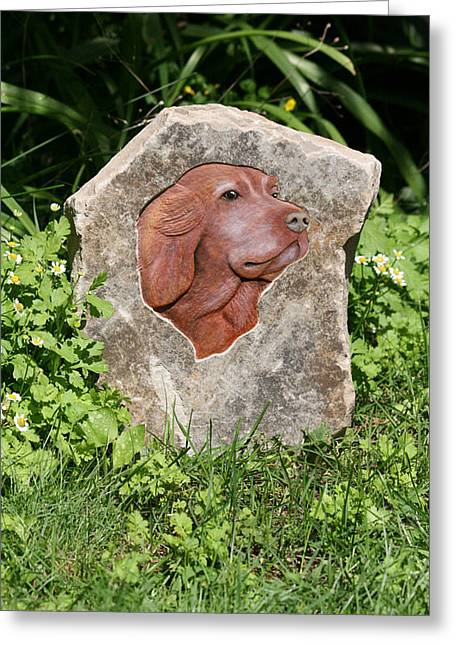 Pet Reliefs Greeting Cards - Sam Greeting Card by Ken Hall
