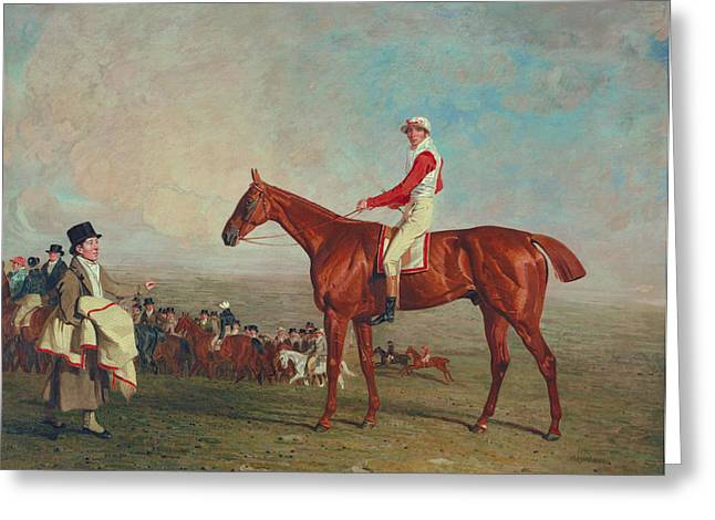 Historical Costume Greeting Cards - Sam with Sam Chifney Jr. Up Greeting Card by Benjamin Marshall