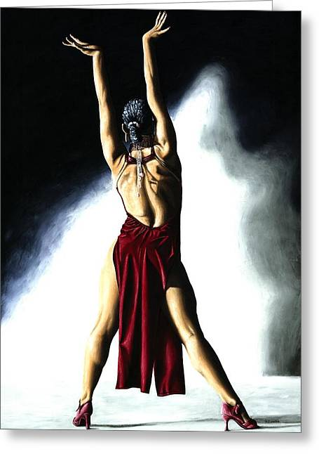 Red Shoe Greeting Cards - Samba Celebration Greeting Card by Richard Young