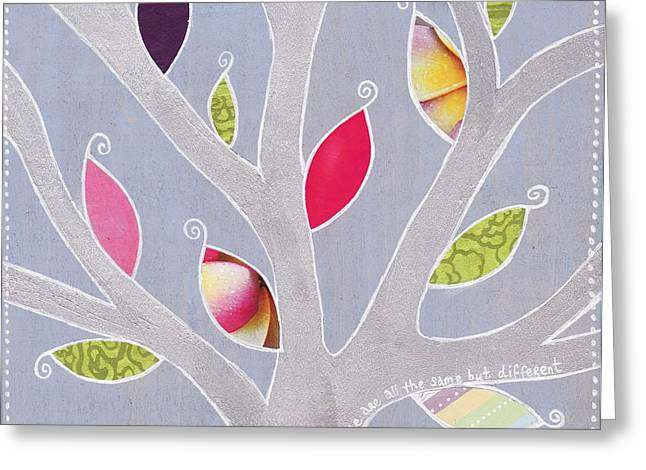 Wood. Commissions Greeting Cards - Same Same but Different Greeting Card by Louise Gale