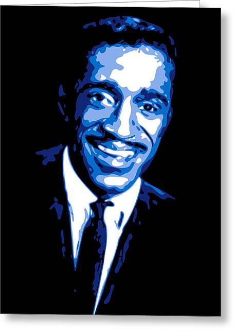 Rat Pack Greeting Cards - Sammy Davis Greeting Card by DB Artist