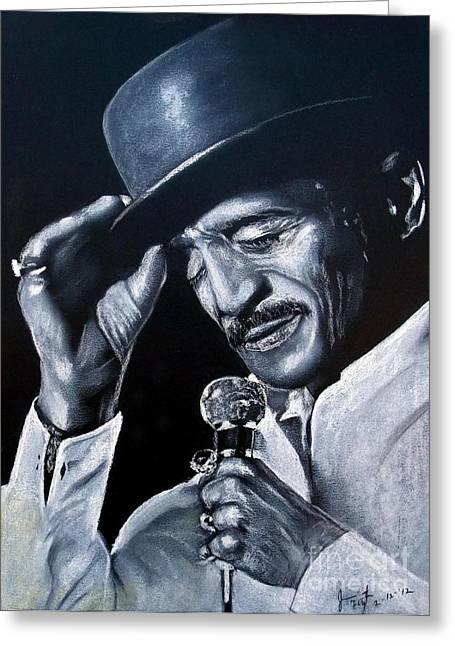 Bojangles Greeting Cards - Sammy Davis Jr Greeting Card by Jim Fitzpatrick