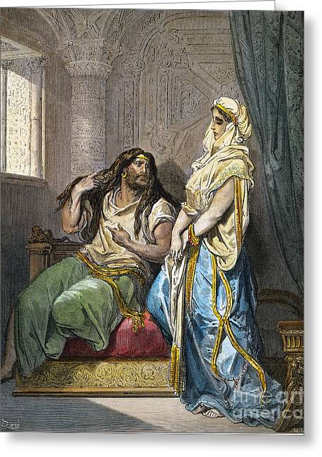 Dore Greeting Cards - Samson And Delilah Greeting Card by Granger