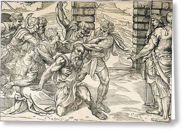 Bible Character Greeting Cards - Samson and Delilah Greeting Card by