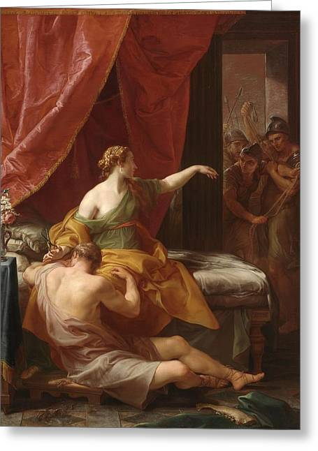 Scissors Greeting Cards - Samson and Delilah Greeting Card by Pompeo Girolamo Batoni