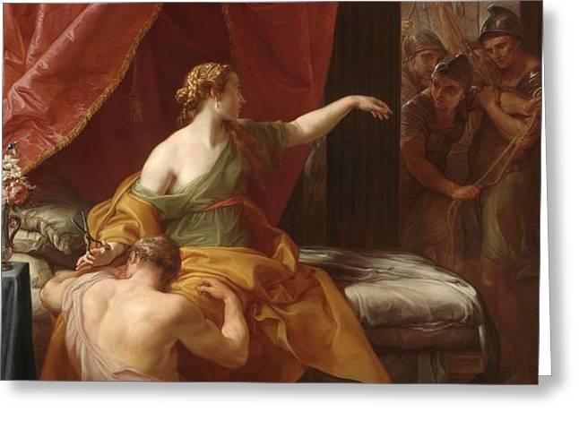 Samson and Delilah Greeting Card by Pompeo Girolamo Batoni