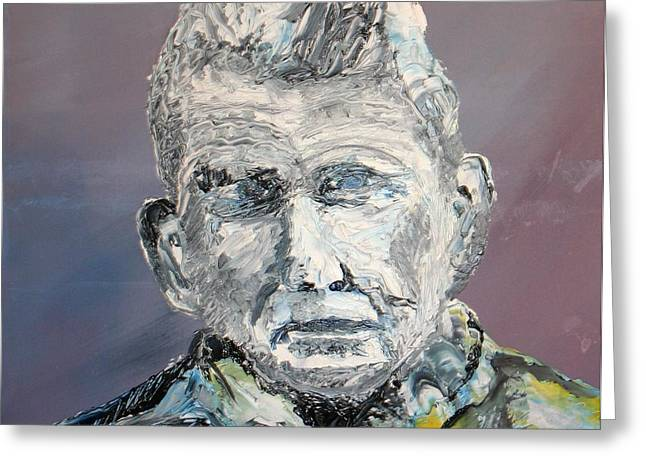 Outlook Bleak Greeting Cards - Samual Beckett Greeting Card by Gerard Dillon